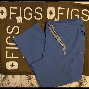Figs XXL 2XL 2X ceil blue cargo style pants